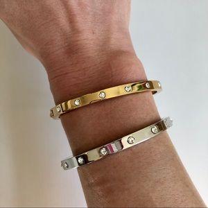 Kate Spade crystal hinge bangle bracelets TWO